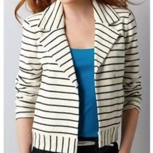 LOFT Striped French Terry Jacket PS